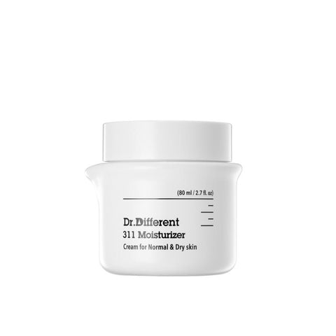 [Dr.Different] 311 Moisturizer: Cream (for Normal & Dry Skin) 80ml