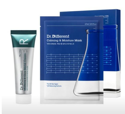 [Dr. Different] Madeca-R Cica Metal Cream + Calming & Moisutre Masks (5pcs)