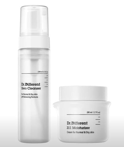 [Dr. Different] Zero Cleanser + 311 Moisturizer for Normal & Dry Skin