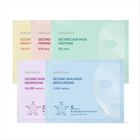 [Innisfree] Second Skin Mask Sheet Brightening (10pcs)