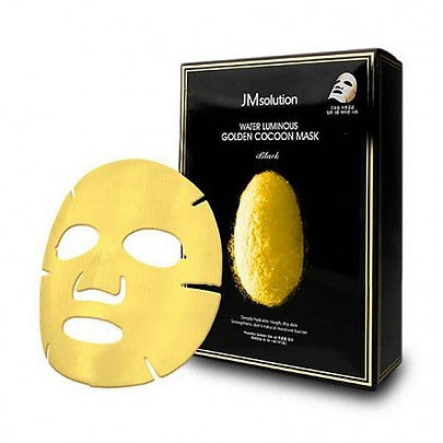 [JM Solution] Water Luminous Golden Cocoon Mask Black (10EA)