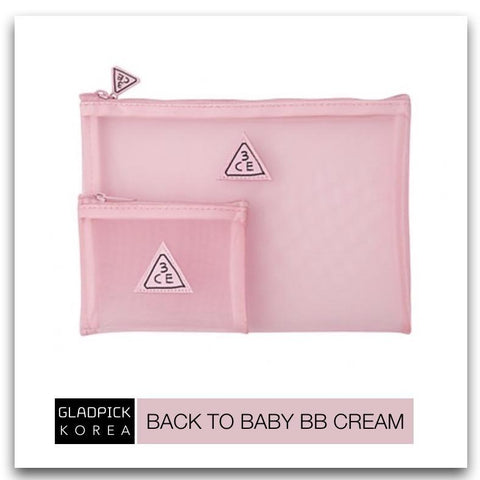 [3CE] Pink Rumour Mesh Pouch