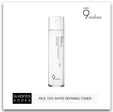 [9wishes] Rice 72% White Lucent Refining Toner 150ml