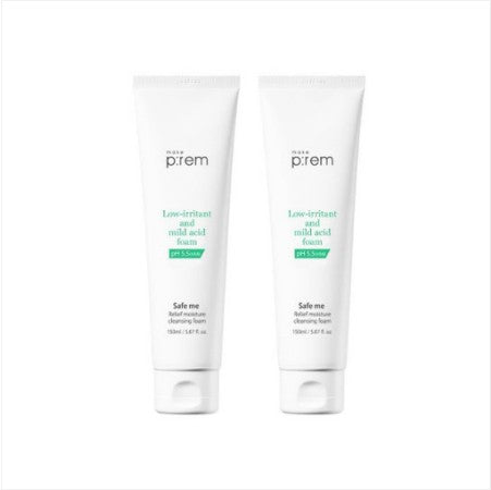 [makep:rem] Safe Me. Relief Moisture Cleansing Foam 150ml (Buy 1, Get 1)