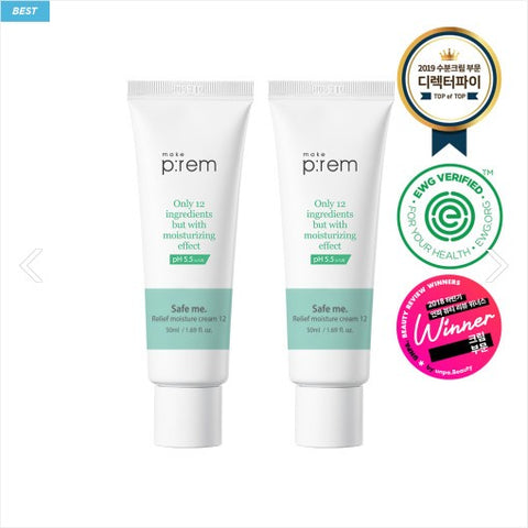 [makep:rem] pH5.5 Safe Me. Relief Moisture Cream 12 (50ml) *Buy One Get One*