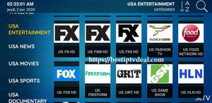 USA Entertainement FOX channels