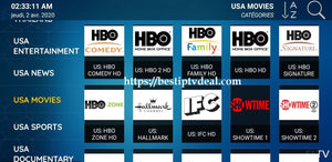 USA live channels HBO Showtime