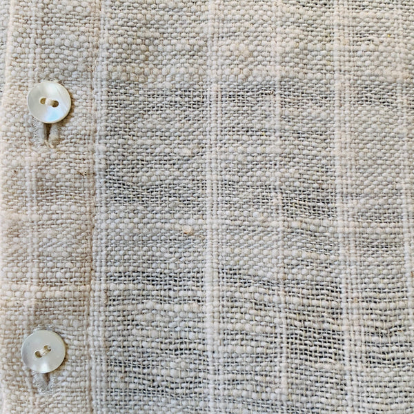 Long Sleeve Shirt With Pockets Unisex 1136F 4A - Size 4 - Natural White Stripes