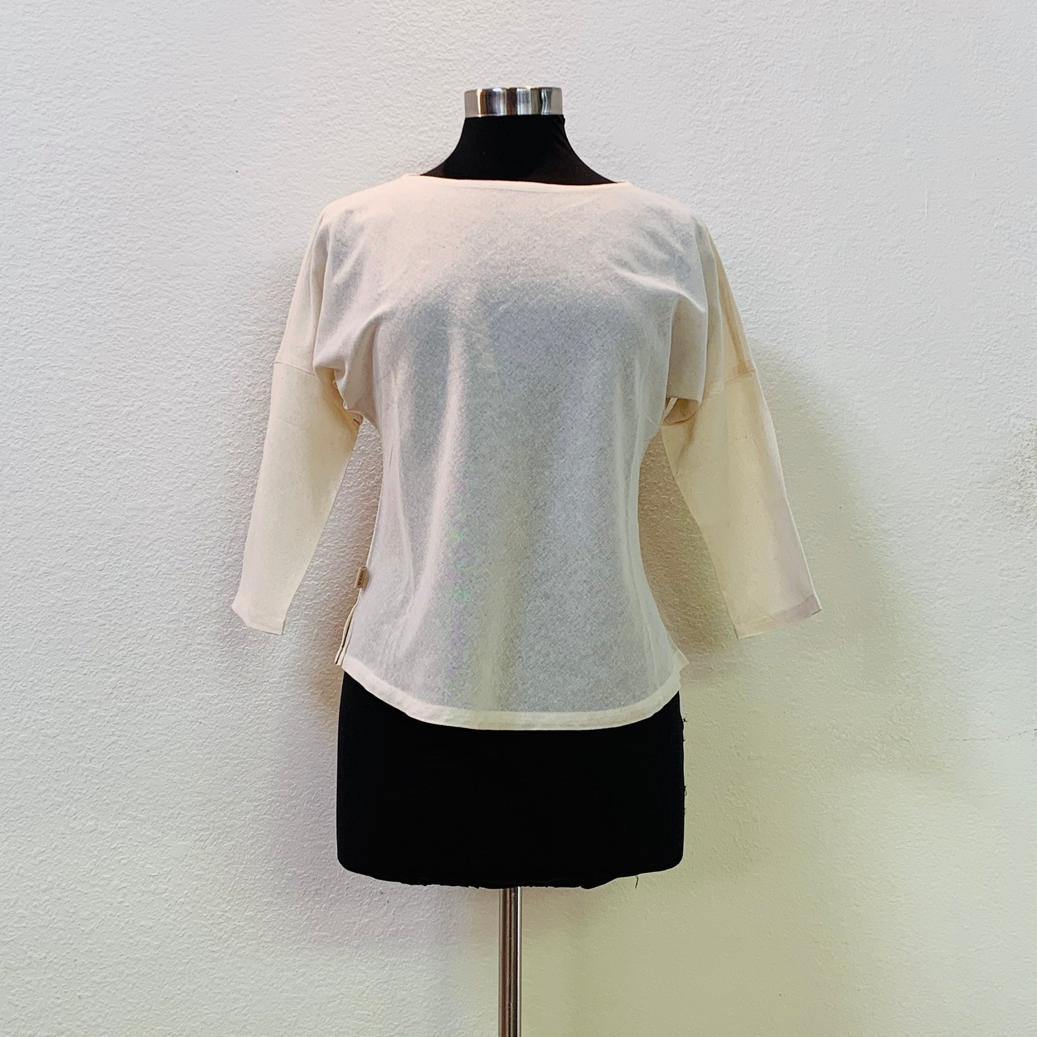 Half Sleeve Round-Neck Inner Shirt 9106Q - Size 2-8 - Natural White
