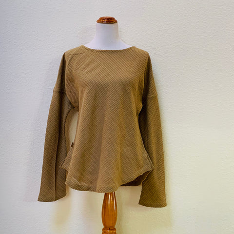 Boat-Neck Long Sleeve Shirt 1115AG 6E - Size 6 - Olive Green