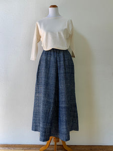 Long Skirt 3228B - Size 4 & 6 - Indigo
