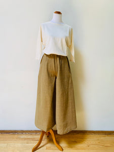 Flared Wide Pants 3190L 6A - Size 6 - Olive Green