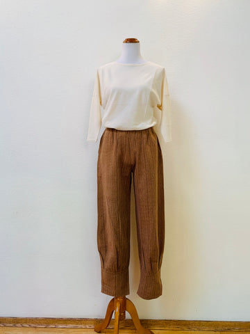 Pegged Pants 3147A 6 - Size 6 - Brown Stripes