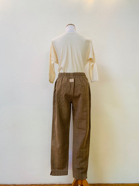 Simple Pants 3021BE 6A - Size 6 - Brown / Grey