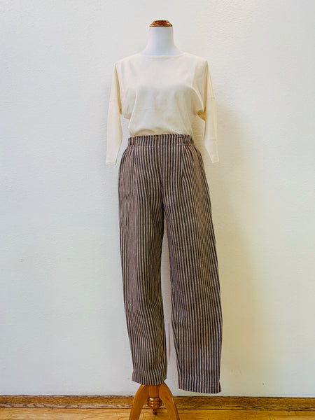 Straight Pants 3021BA 6C - Size 6 - Multi-Colored Stripes