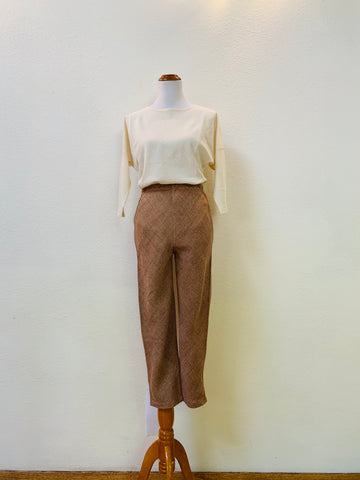 High-Waisted Slim Pants 3067 AP 2C - Size 2 - Pinkish Brown