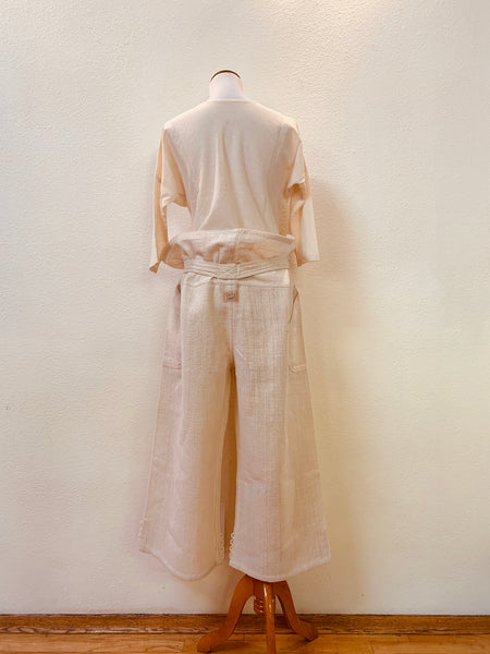 Thai Style Button-Hem Pants  3201F 4A - Size 4 - Natural White