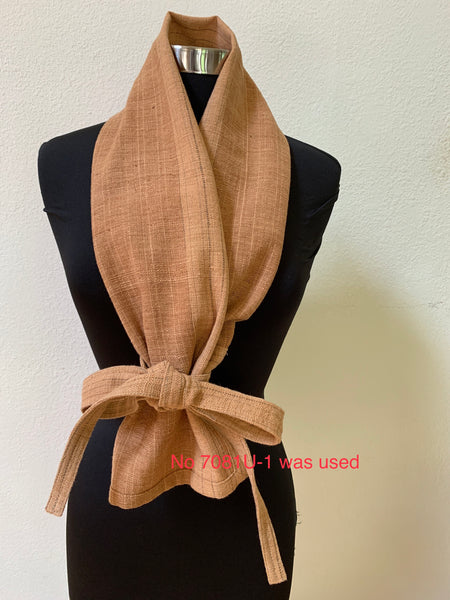 Fundoshi - Japanese Traditional Underwear, Scarf / Head Wrap Unisex  7055AC - 5 - Light Brown