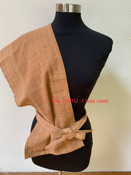 Fundoshi - Japanese Traditional Underwear, Scarf / Head Wrap Unisex 7081U-2 - Pinkish Brown