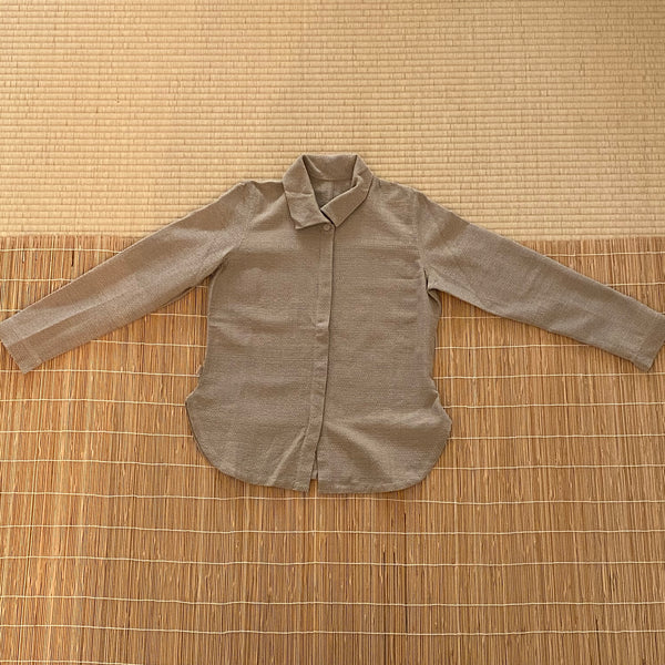 Long Sleeve Shirt / Blouse / Jacket 2164V 4A - Size 4 - Beige