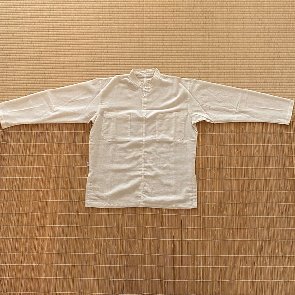 Banded Collar Inner Shirt Unisex 9115A - Size 2-8 - Natural White