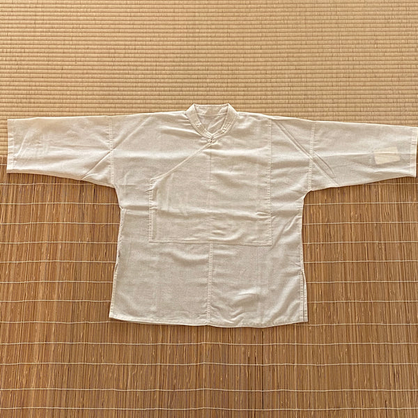 Banded Collar Half Sleeve Inner Shirt Unisex 9117A - Size 2-8 - Natural White