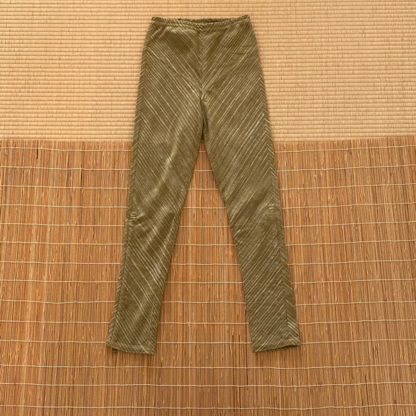 Extra Long Slim Pants with Bottom Drawstring 3006CK 2D - Size 2 - Olive Green