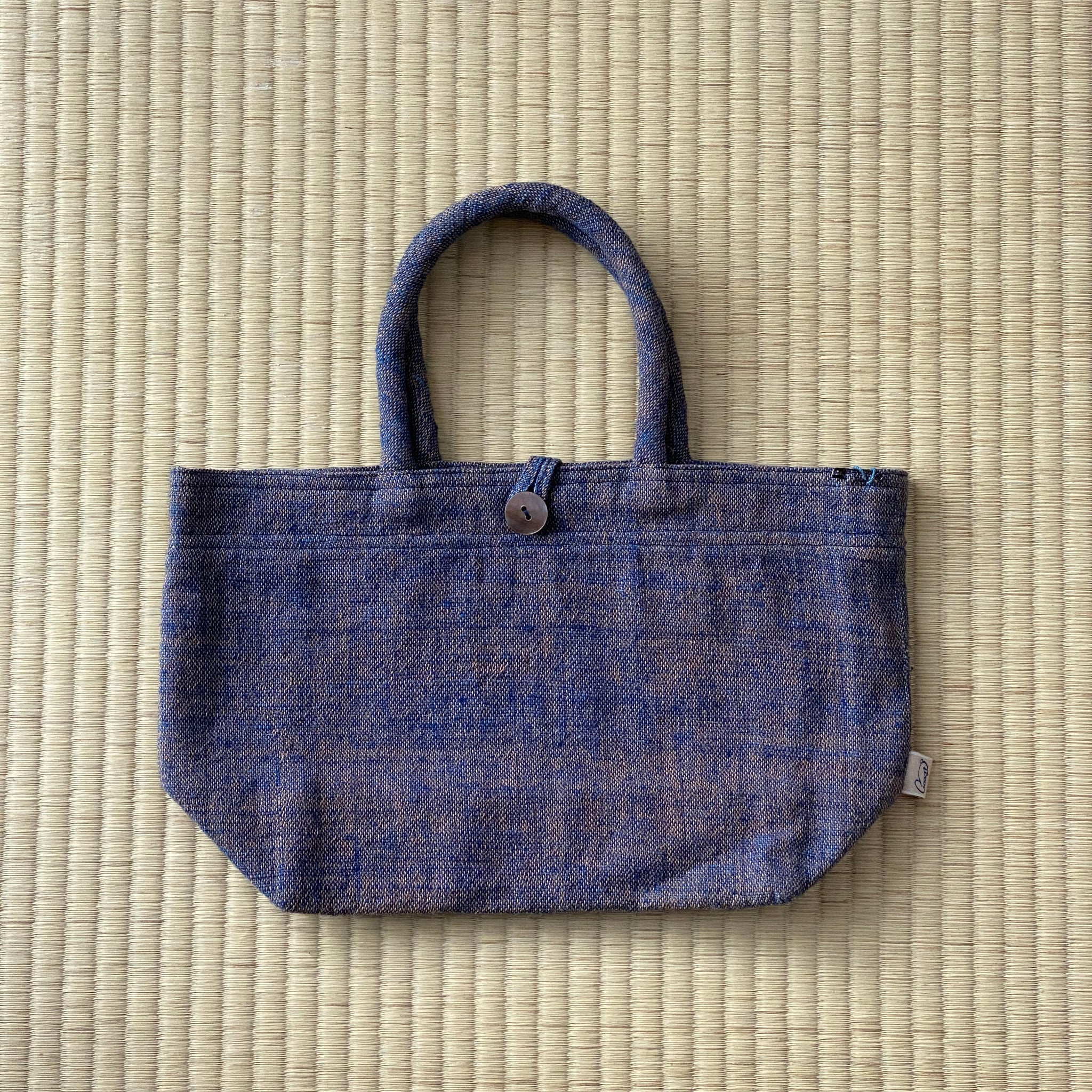 Small Bag With Handles 7094J - Purple / Indigo