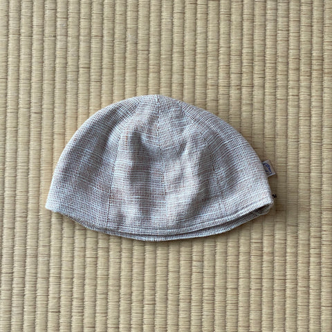 Cotton Dome Cap 7216A - Size M - Light Brown / Natural White