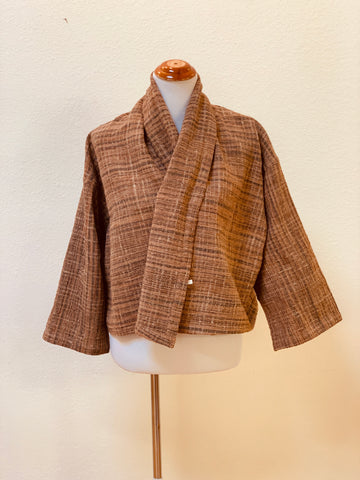Zen Style Open Front Two Way Jacket 2031CF FC - Universal Size - Brown Plaid