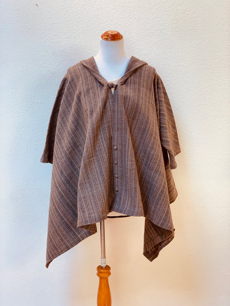 Zen Style Open Front Jacket 4146Z FB Universal Size - Grey/Brown Stripes