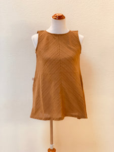 A-line Center-Seamed Tank Top 1186Q 2E - Size 2 - Brown