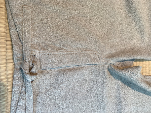 Hemp 100% String Pants UNISEX 3093W 6A - Size 6 - Grey Beige
