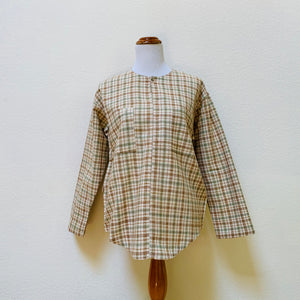 Long Sleeve Pullover Shirt Unisex 1141P 4B - Size 4 - Multi-Colored Plaid
