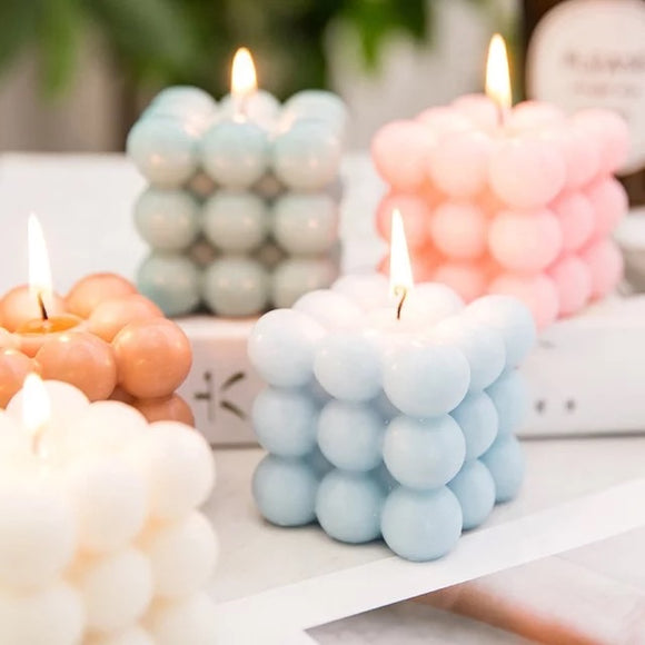 Bubble Cube Soy Bean Candle