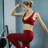 LUOENBO two piece set tracksuits women set bra+ leggings for fitness sportswear for women sport clothing women's sports suit