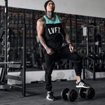 Bodybuilding Fitness Men Running Tanks Quick Dry Workout Print Plus Size 3XL Vest Stringer Sportswear Muscle Undershirt