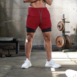 Men's 2 In 1 Double Deck Quick Dry Sport Tech Shorts