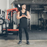 Sexy tank top men's gym fitness vest new men's muscle sports cotton jogging sports sleeveless shirt top size M-3XL