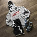 Cotton Running Sweatshirt Men Sports Coat Fitness Long Sleeve Hooded Tight Hoodies Hiking Sweatshirts Male Gym Training Jackets