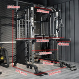 Multifunctional Deep Squat Weightlifting Frame Trainer Chin Up Counterweight Pulling Rope Training Combination Fitness Equipment