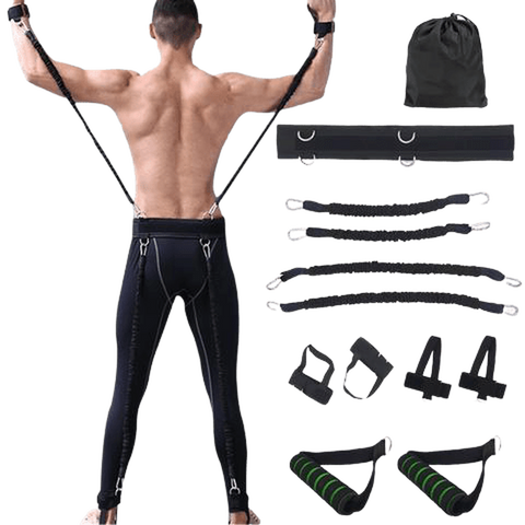 Sports Fitness Martial Arts Resistance Bands Set for Leg and Arm Exercises Boxing Muay Thai Home Gym Bouncing Strength Training Equipment