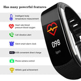 Sport Watch Blood Pressure Heart Rate Sleep Exercise Pedometer Bluetooth Smart Bracelet C6T Body Temperature Monitoring