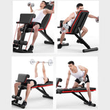 Adjustable Sit Up Bench Multi-position Comfortable Stable Durable Multi-functional Steel Fitness Workout Bench Exercise Training