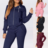 Autumn Winter Sport Suit Women Tracksuits Fleece Pullover Tops Shirts Running Set Jogging Suits Sweatpants Sportswear Yoga Set