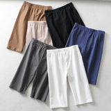 Sexy Cotton Sport Gym Long Shorts Women Quick Dry Fitness Workout Yoga Shorts High Waisted Running Training Tight Shorts