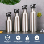 Stainless Steel Sports Water Bottle with Drinking Straw Cold Water Bottle Gym Cycling Hiking Bottle Drinkware 500/750/1000ml
