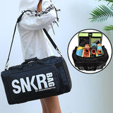 Large Multiple Compartment Sport Training Gym Bags Men Sneaker Gym Bag Shoes Packing Cube Organizer Waterproof Shoulder Bag SNKR