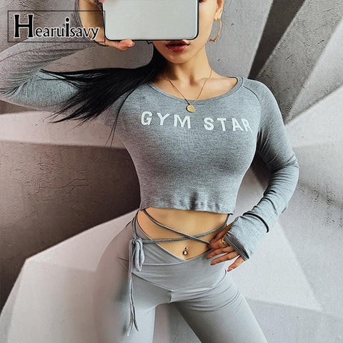women yoga top long sleeve crop top T-shirt sports top fitness shirt pink workout running clothes sports wear for female gym top