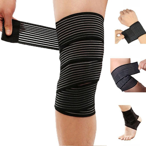 Breathable Elastic Bandage Knee Pads Sports Brace Support Protector Bodybuilding Straps Wrist Ankle Elbow Calf Thigh Leg Waist